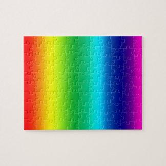 Färger av regnbågen pussel
