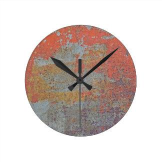 Färger av rostar/Rosta-Konst/metall Rund Klocka