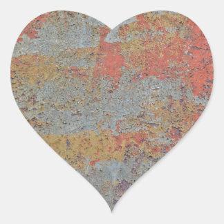 Färger av Rust09.0, Rosta-Konst Hjärtformat Klistermärke
