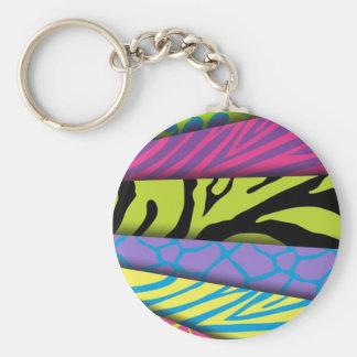 Färger för djurt tryck för sebra tillfogar olika t rund nyckelring