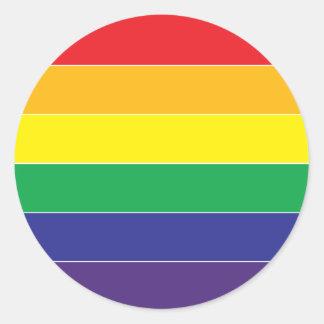 Färger för gay prideregnbågeflagga runt klistermärke