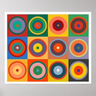Färger för Op konst #24 Kandinsky Poster