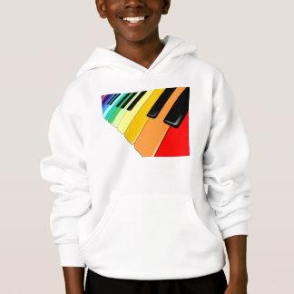 Färger för tangentbordmusikparty tröja