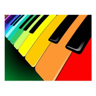 Färger för tangentbordmusikparty vykort