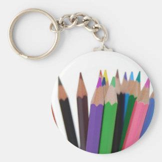färger ritar rund nyckelring