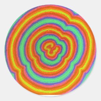 färger runt klistermärke