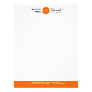 FärgFooter (kuben) - orange Brevhuvud