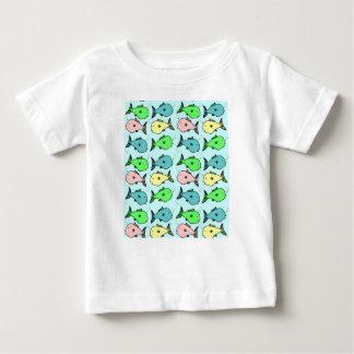 Färgglad fisk - baby T-tröja T-shirt