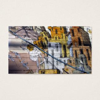 Färgglad grafittihusdesign i San Francisco Visitkort