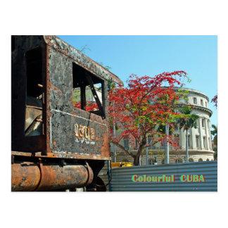 färgglad Kuba Vykort