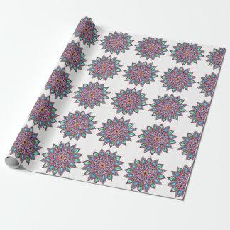 Färgglad Mandala som slår in papper Presentpapper
