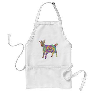 Färgglad spiral djur konst för rolig Psychedelic Förkläde