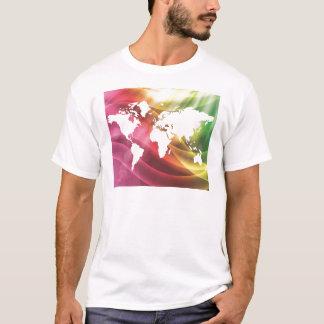 Färgglad värld tee shirt