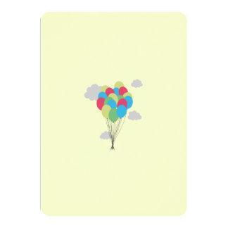 Färgglada ballonger 12,7 x 17,8 cm inbjudningskort