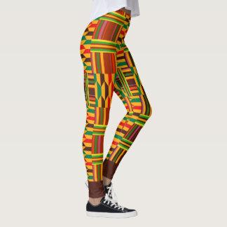 Färgglada Kente Leggings