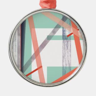 Färgglada kvarter julgransprydnad metall