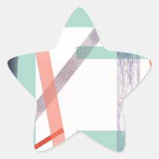 Färgglada kvarter stjärnformat klistermärke