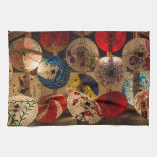 färgglada paraplyer kökshandduk