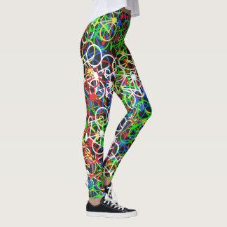 Färgglatt cykelmönster - cyklist damasker leggings