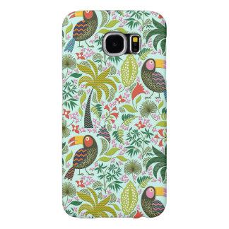Färgglatt exotiskt fågel- och blommamönster galaxy s5 fodral