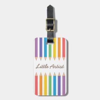 Färgglatt färga för regnbåge ritar skolar ungar bagagebricka