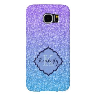 Färgglatt glitter för monogram och Sparklesmönster Samsung Galaxy S6 Fodral