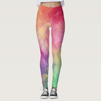Färgglatt lägga benen på ryggen för sport leggings