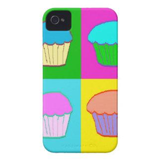 Färgglatt muffinPopart fodral iPhone 4 Case-Mate Skal