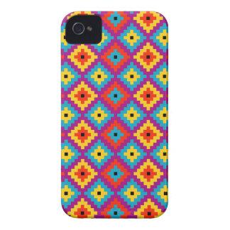 Färgglatt primitivt mayan tegelstenmönster iphone 4 cases