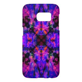 Färgglatt purpurfärgat kaleidoscopemönster galaxy s5 skal