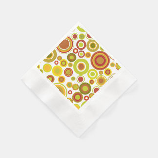 Färgglatt retro bubblar pappersservett