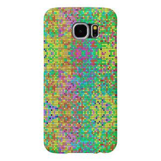 Färgglatt Retro geometriskt Shapemönster Samsung Galaxy S6 Fodral