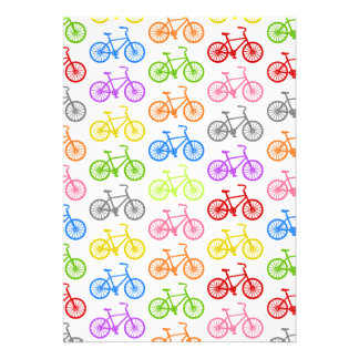 Färgglatt seamless för kallt gulligt cykelmönster personliga inbjudningskort