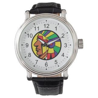 Färgindierhuvud Armbandsur