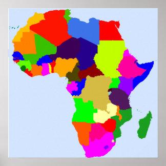 Färgkartan av afrikaaffischen - förbigå poster