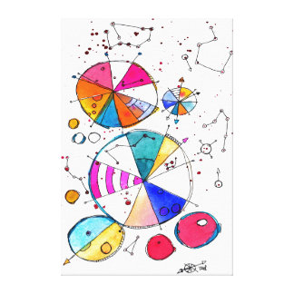 Färgkompass Canvastryck