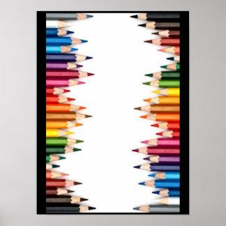 Färgläggningen ritar mönsterkonst, gulligt som är poster
