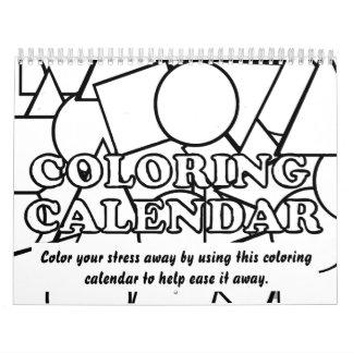 Färgläggningkalender Kalender
