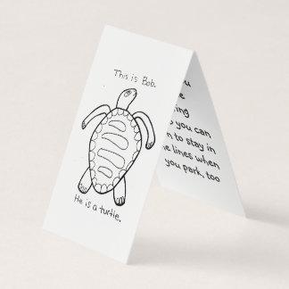 Färgläggningsköldpadda som parkerar ofogkortet visitkort