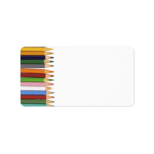 Färgpennaadressetiketter Adressetikett