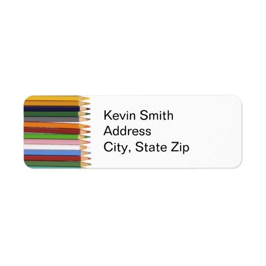 Färgpennareturetiketter Returadress Etikett