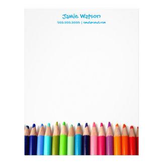 Färgpennor handleder lärarebrevhuvudet brevhuvud