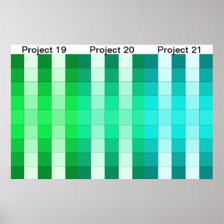 Färgregnbågeaffischen projekterar kalender 7
