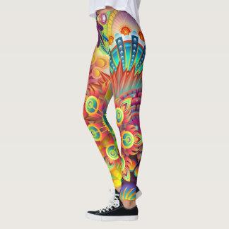 färgrik absrtact leggings