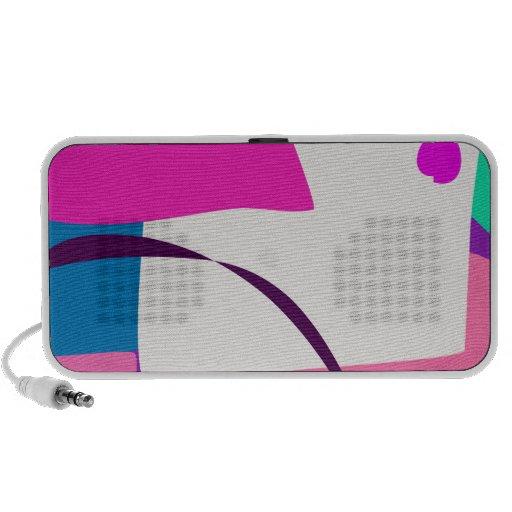 Färgrik abstrakt bild högtalare