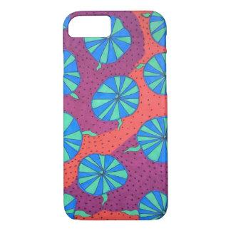 Färgrik abstrakt formar iphone case