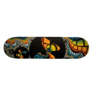 färgrik abstrakt Fractalfjäril Cacoon Old School Skateboard Bräda 18 Cm