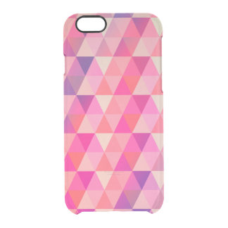 Färgrik abstrakt geometrisk triangeldesign clear iPhone 6/6S skal