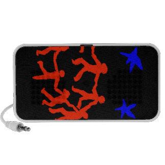 Färgrik abstrakt laptop speakers