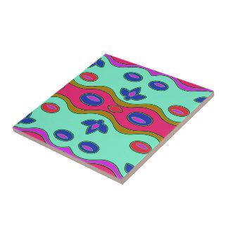 Färgrik abstrakt kakelplatta